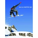 First Class Male Card - Snowboarding