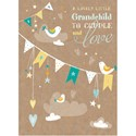 New Baby Card - Bunting (Grandchild)