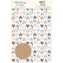 Gift Wrap & Tags - Collage Hearts Pattern