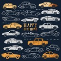 Man Of The Moment Card Collection - Birthday Cars