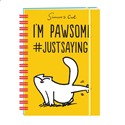 Simon's Cat Stationery - Hardcover Notebook (A5) - I'm Pawsome