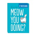 Simon's Cat Stationery - A6 Notecard Pack (12) - Meow You Doing?/Two Cats