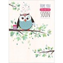 Get Well Soon Card - Bandaged Owl