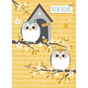 New Home Card - Owls On Branches