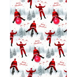 Christmas Wrap & Tags - Cycling Santa