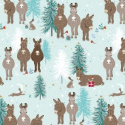 [Pre-Order] Christmas Wrap & Tags - Donkey & Friends